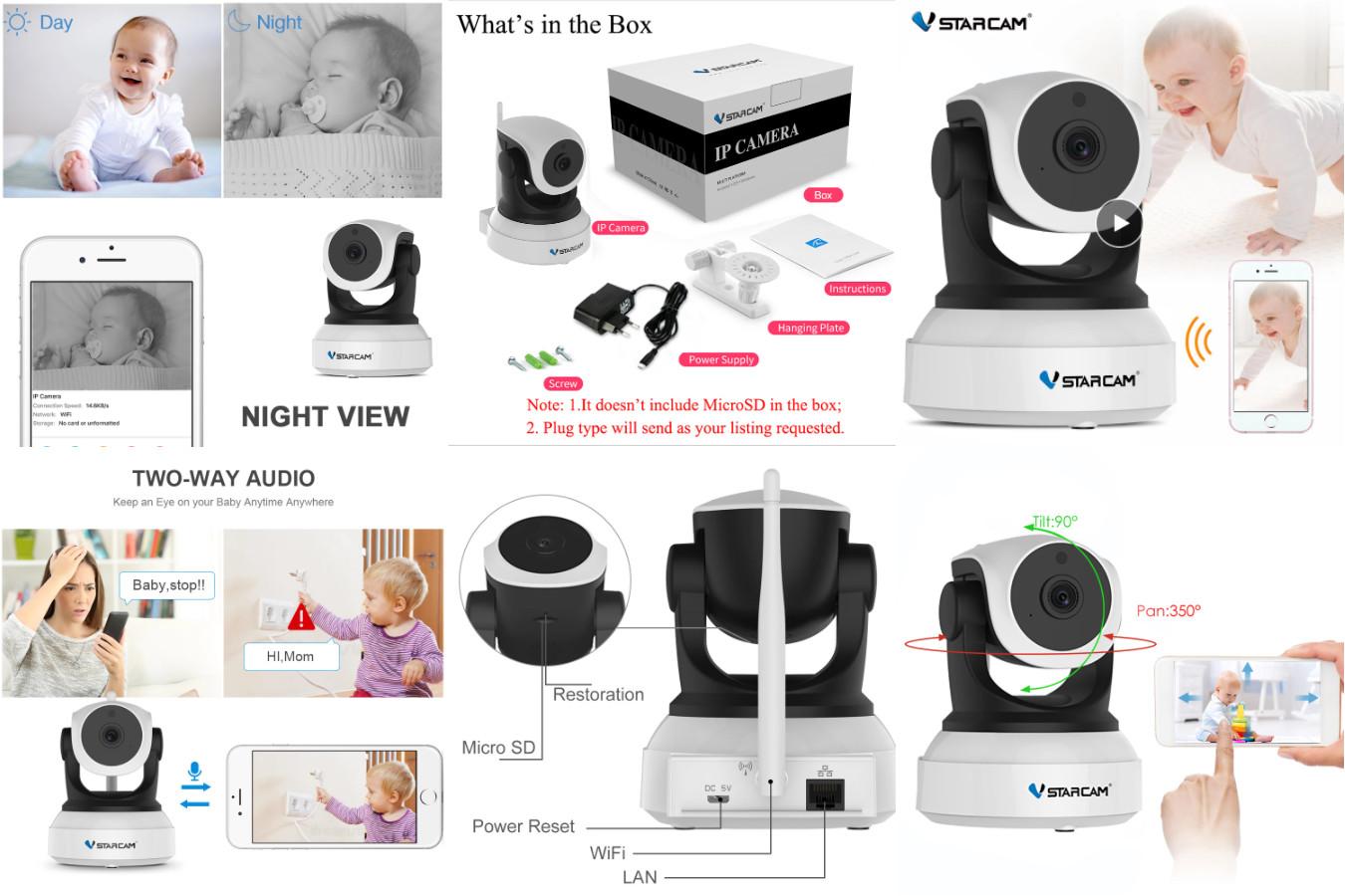 Устройство с детектором движения и зумом — VStarcam C7824WIP