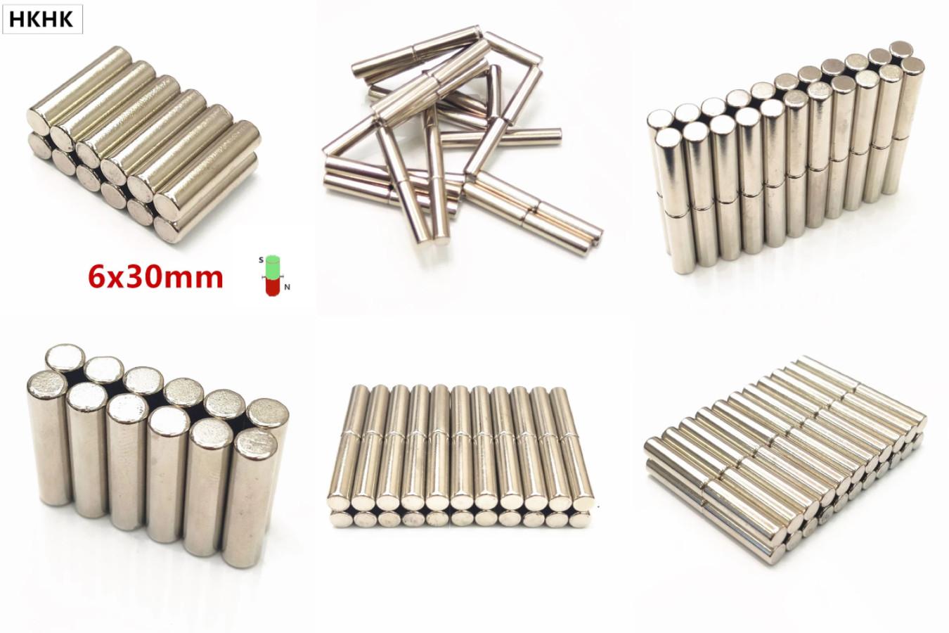 Неодимовые магниты в форме соленоида (вытянутого цилиндра)
