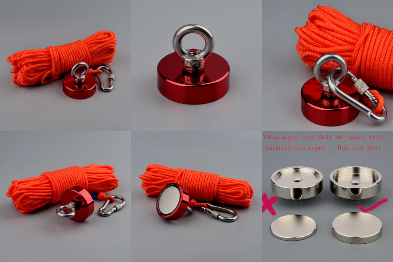Мощный неодимовый магнит с веревкой в комплекте