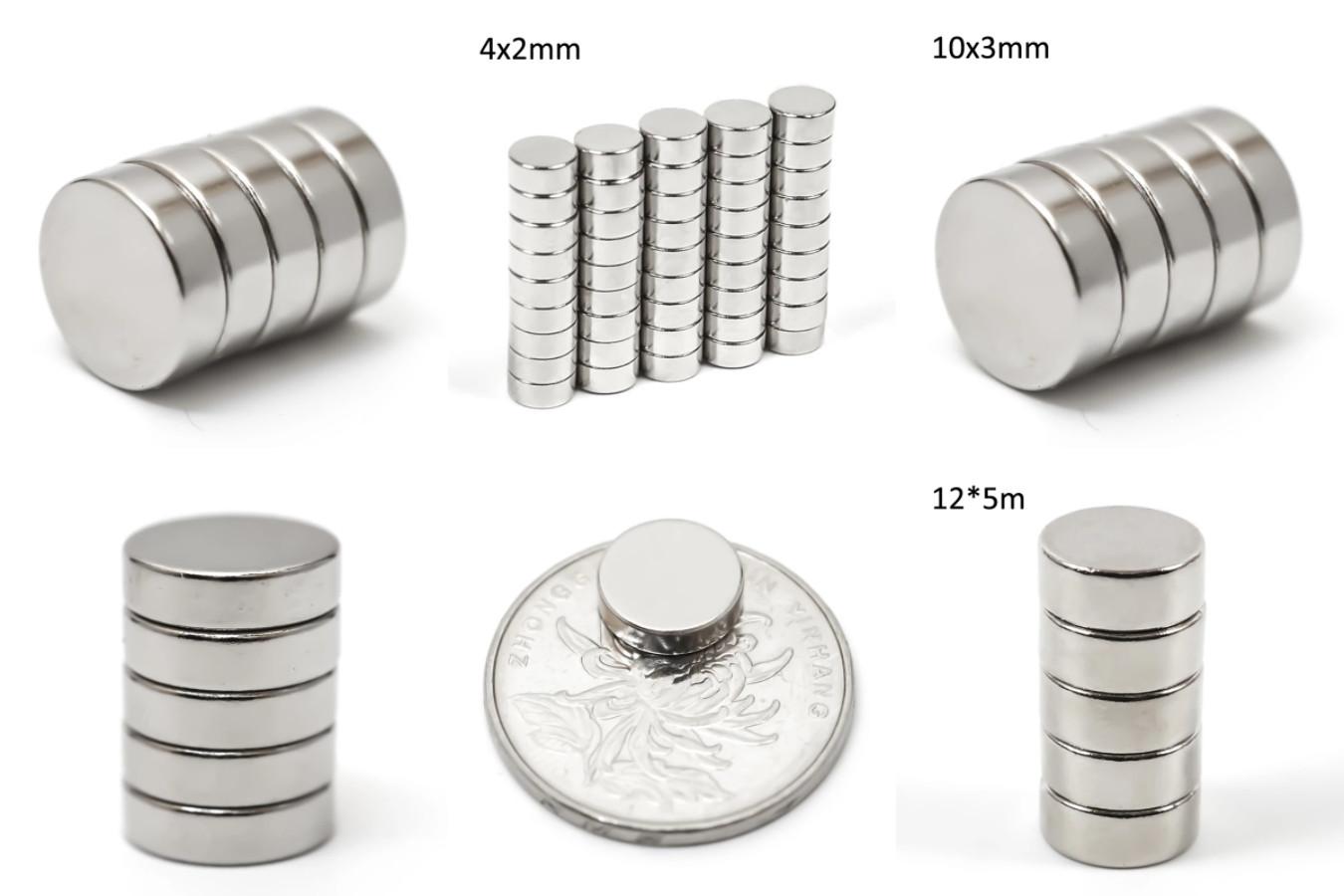 Небольшой комплект круглых магнитов