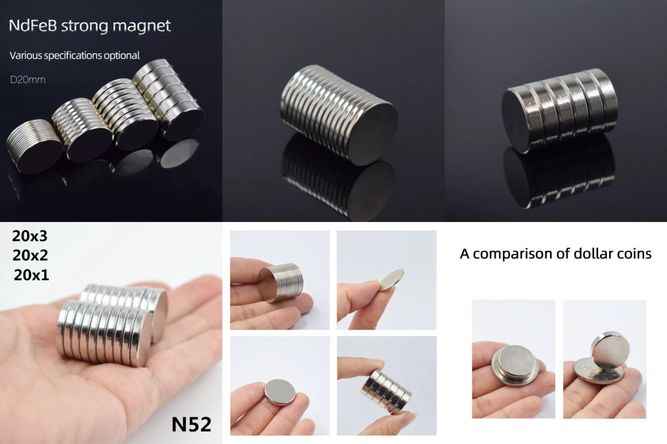 Круглые магниты различной мощности и размеров для счётчиков