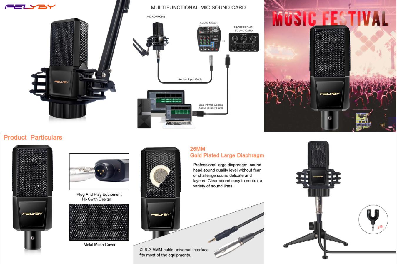 Микрофон с большим вариантом доступных расходников