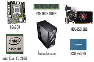 сборка ПК на intel Xeon