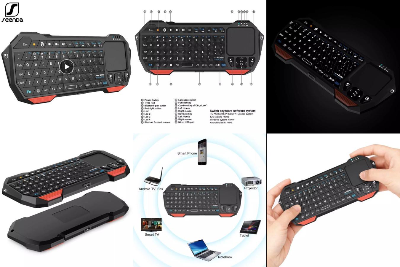 Небольшая клавиатура с тачпадом