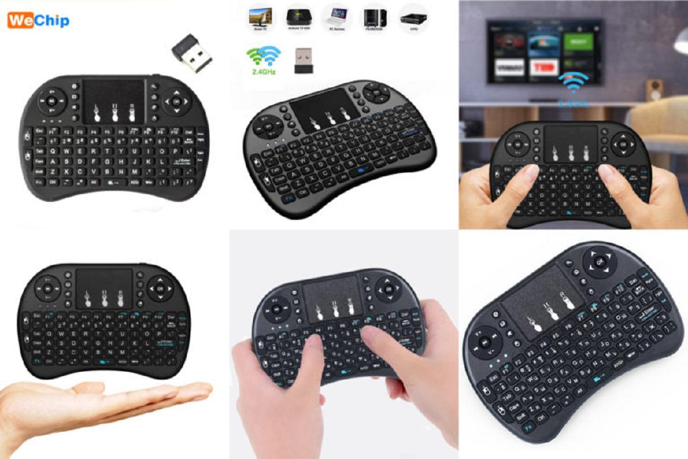 Клавиатура необычной формы с тачпадом