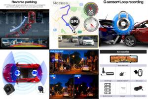 4K Dash Cam медиа-зеркало
