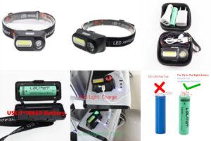 Мини-фонарь XPE + COB – легкий прибор для домашнего пользования