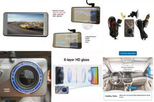 ZHUIHENG 4 дюймовый Dash cam 2.5D супер миниатюрный
