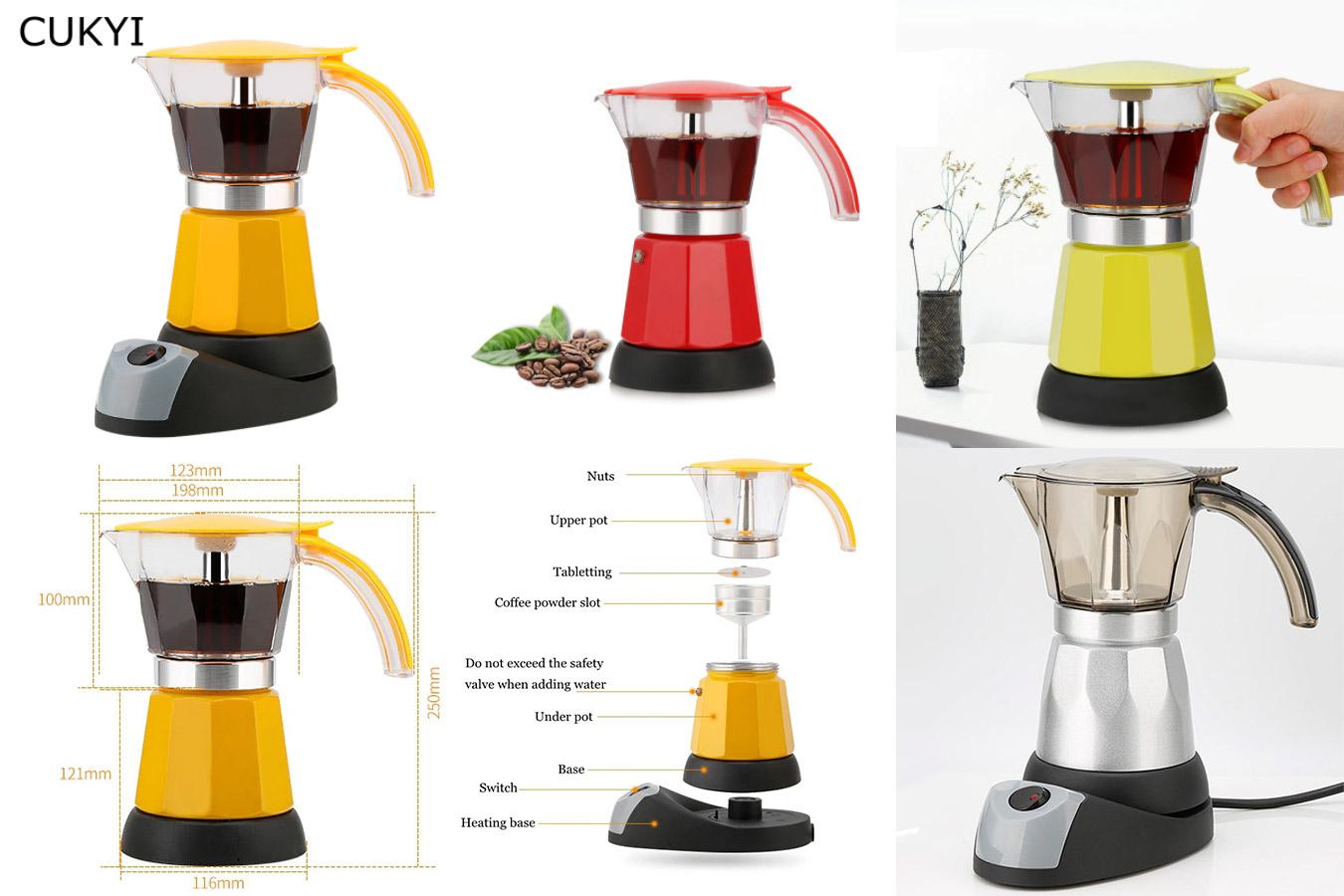 Яркая кофеварка для кухни