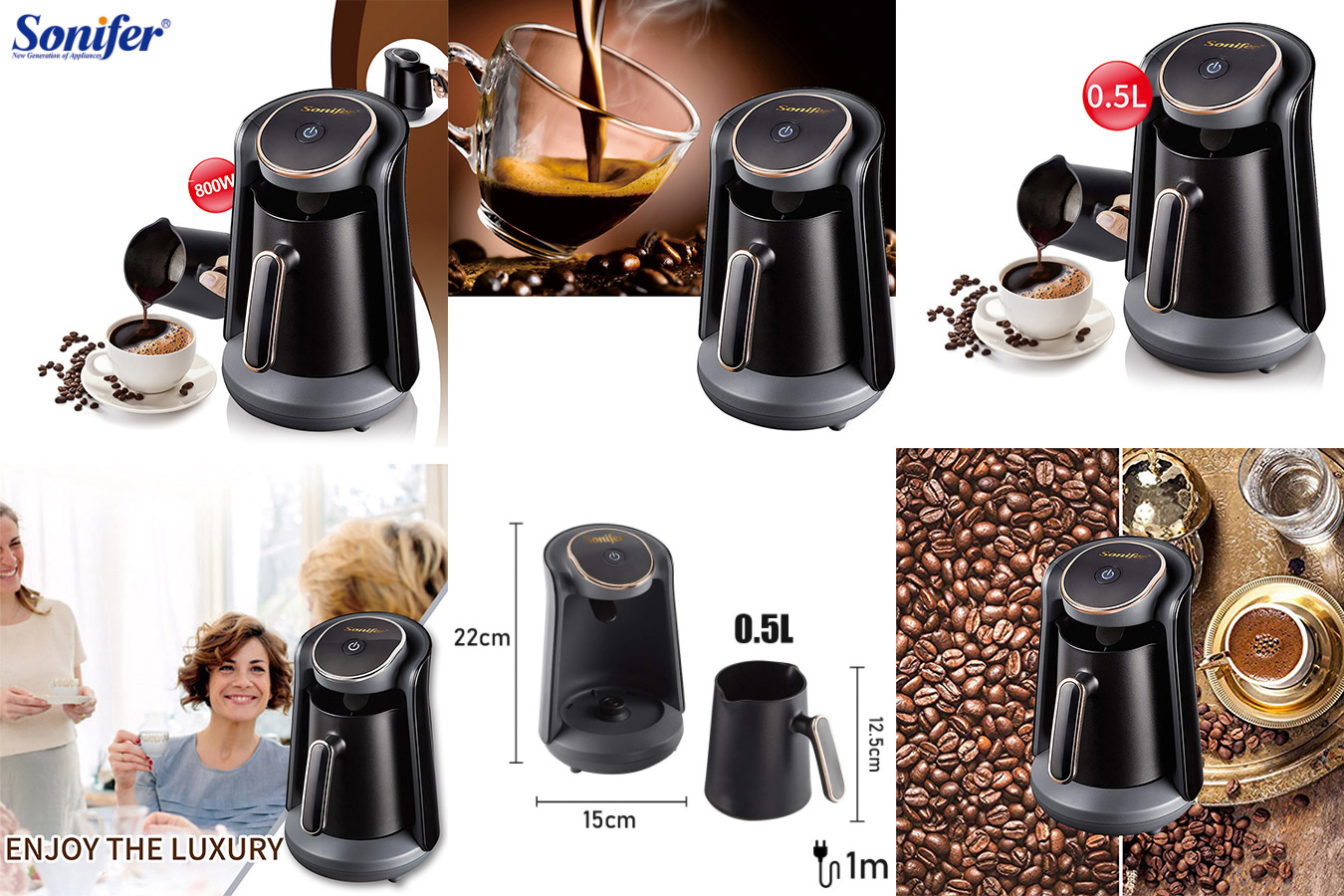 Компактная кофеварка SONIFER