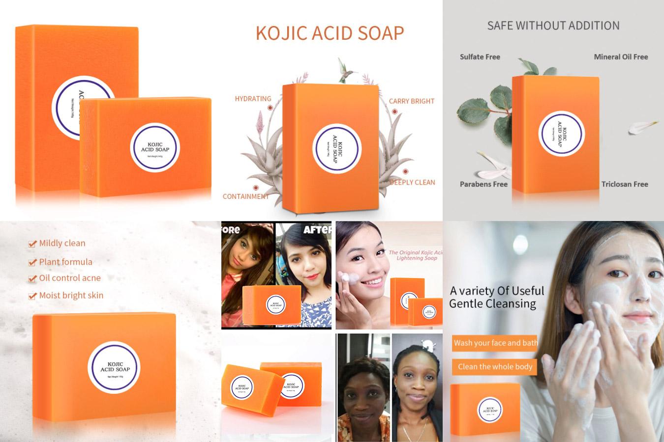 Оранжевое мыло для осветления лица