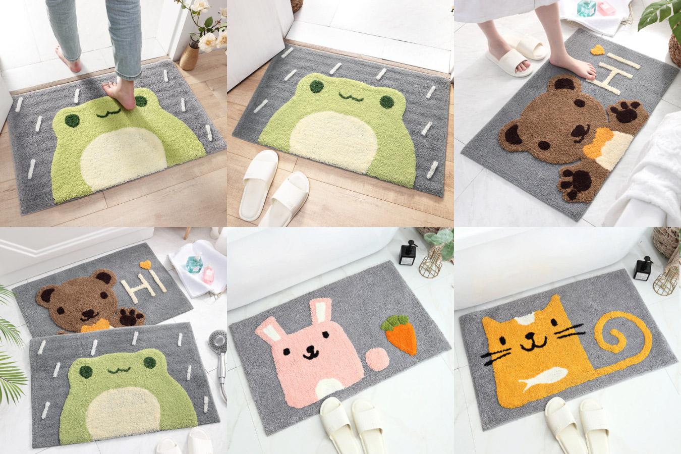 Мягкий коврик с изображением животных