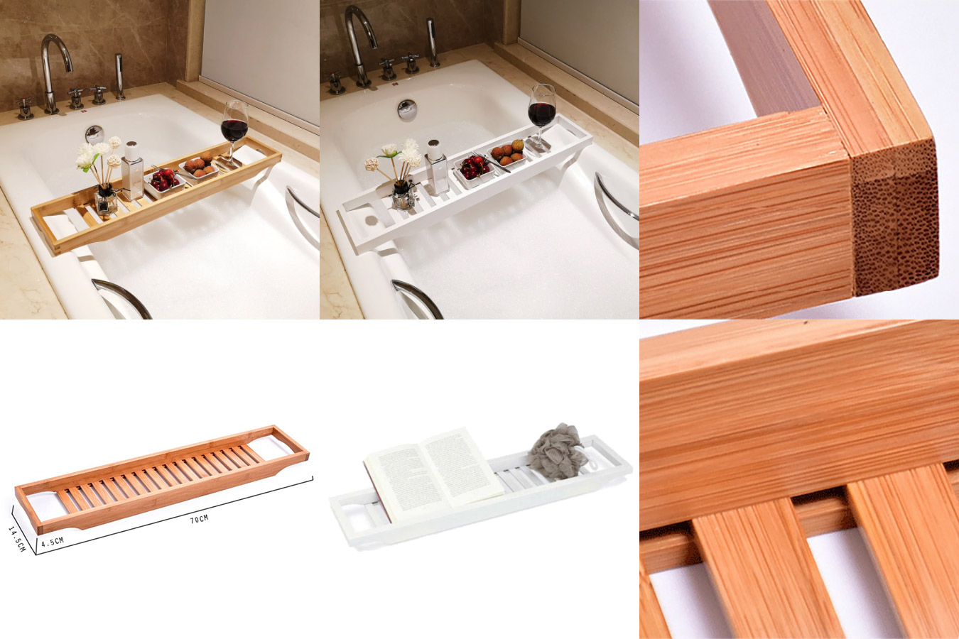 Бамбуковая полочка для ванной
