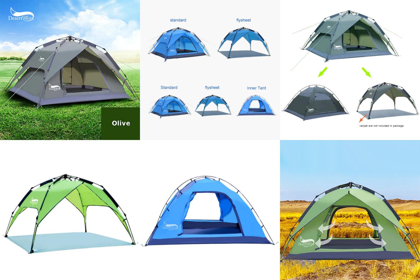 Палатка с автоматической установкой