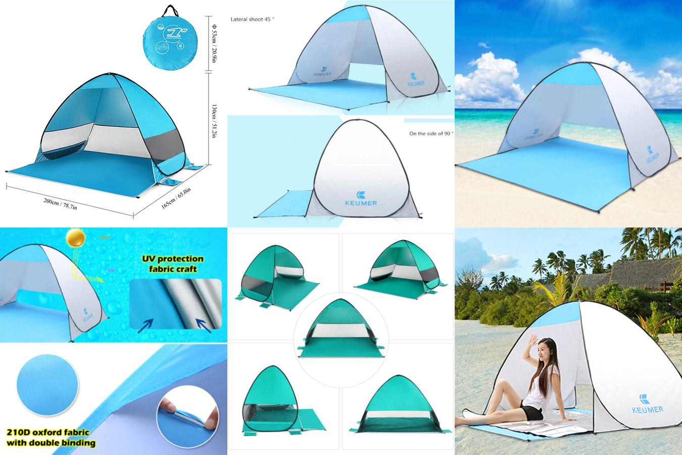 Универсальная палатка для пляжа и путешествий