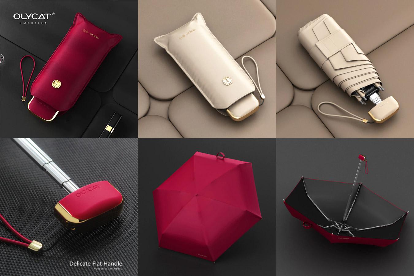 Компактный складной зонт