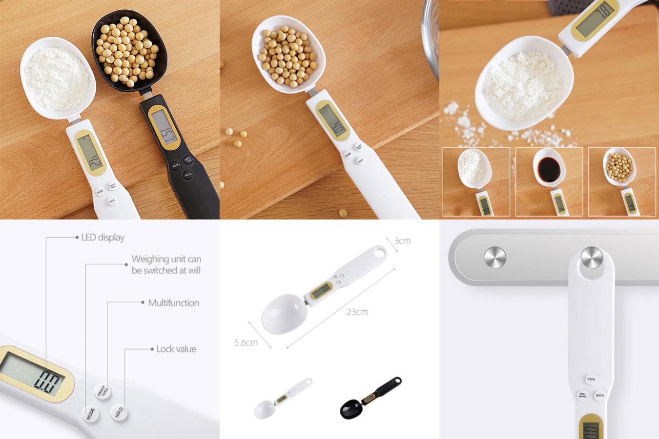 Кухонные электронные весы в виде ложки