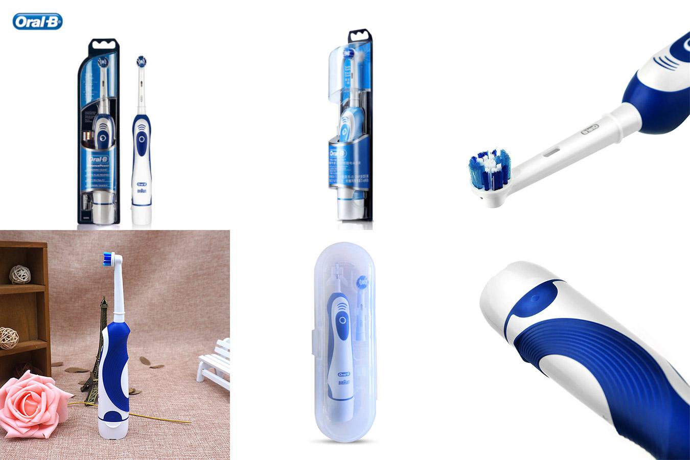 Отбеливающая зубная щетка Oral B