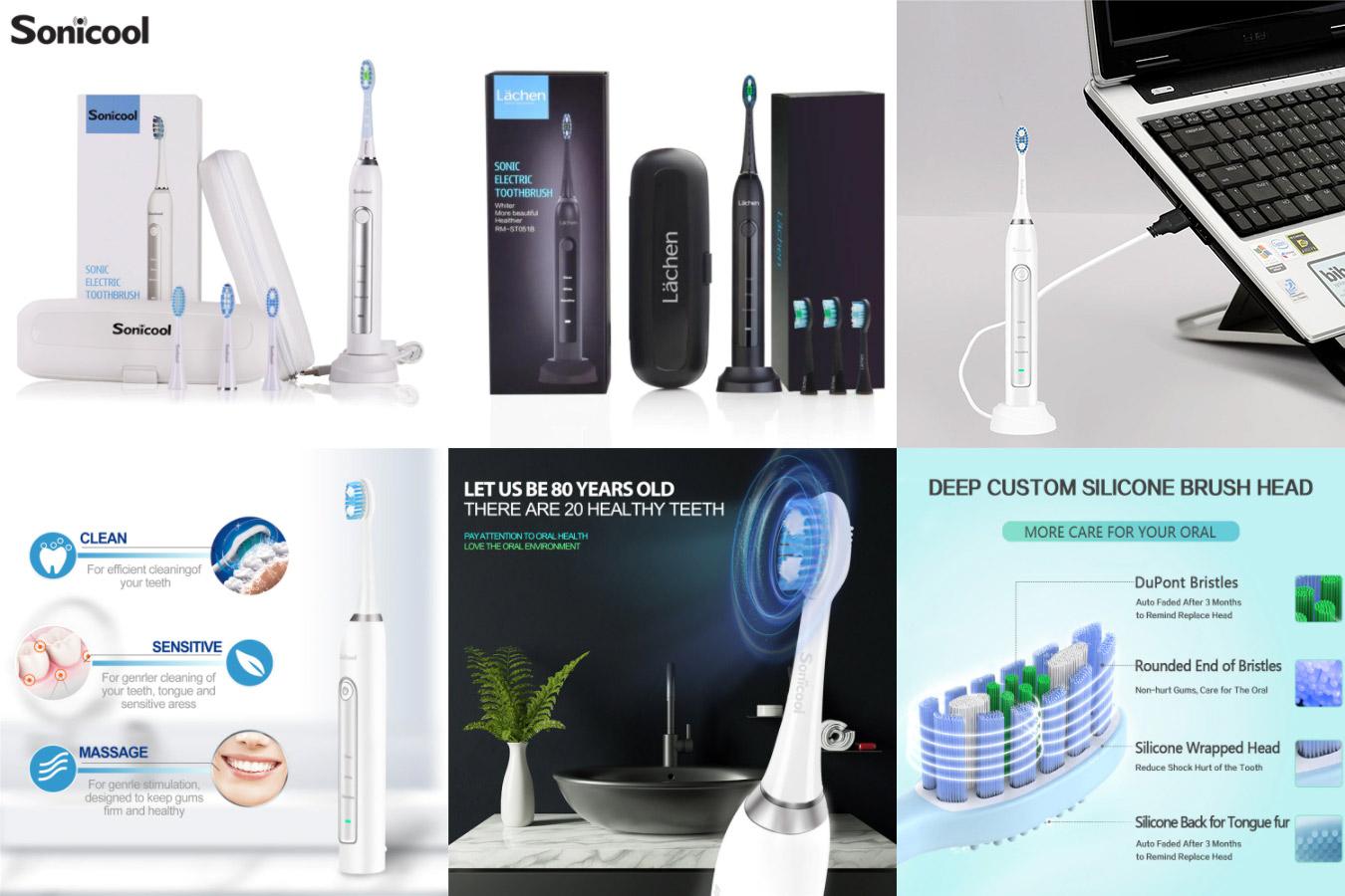 Полезная электрическая зубная щётка