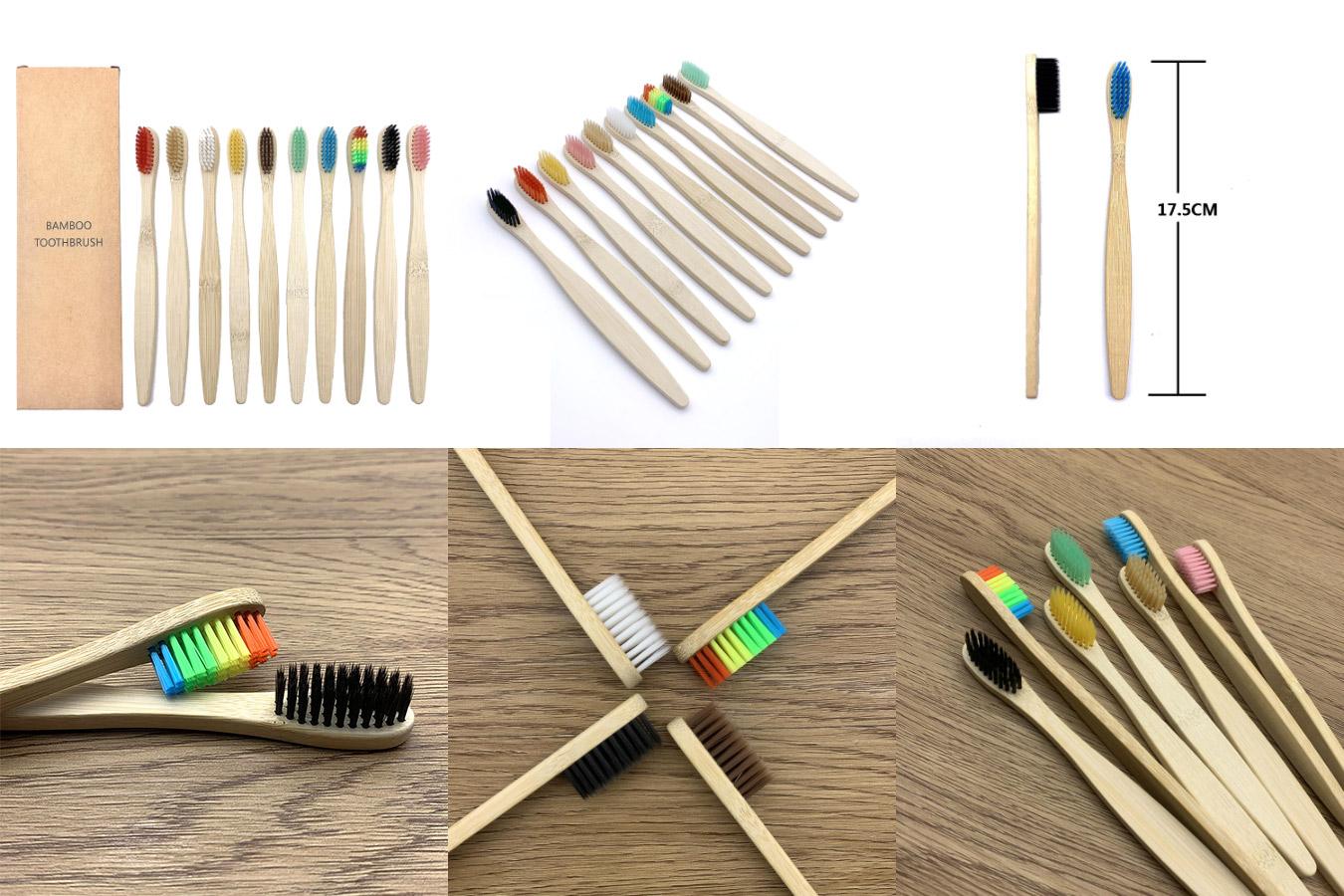 Недорогие бамбуковые зубные щетки
